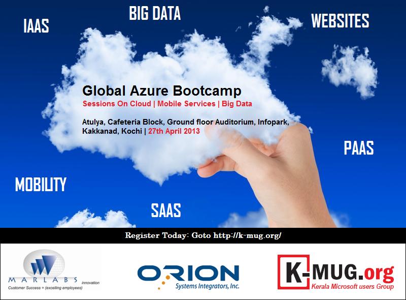 Global Azure Boot camp Kochi