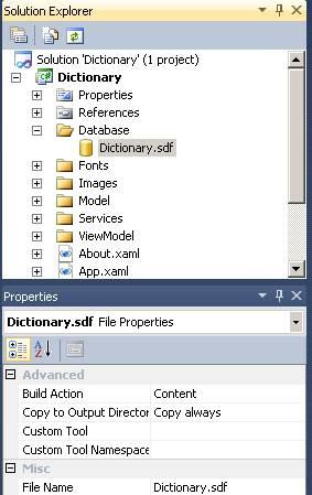 Properties Window - Build Action - Content