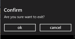 WP7 Exit confirmation