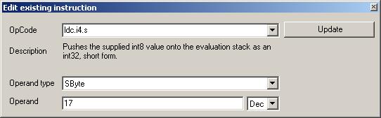 Edit existing instruction
