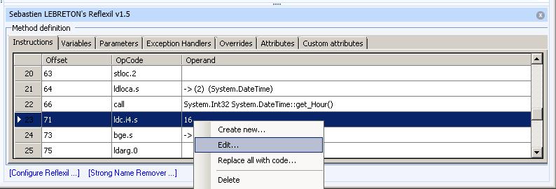 Select Edit menu item