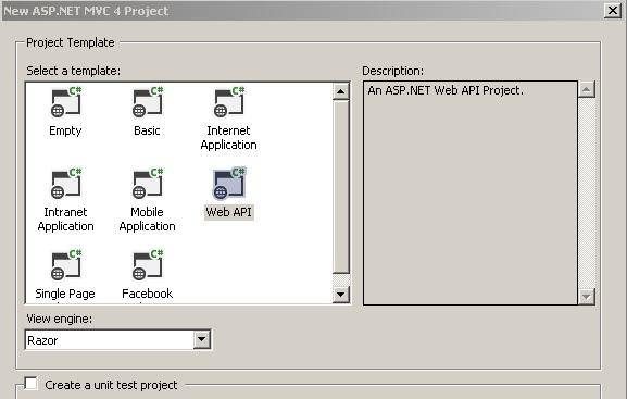 Web API project template