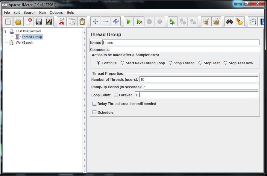 Apache JMeter - Users - Thread Group