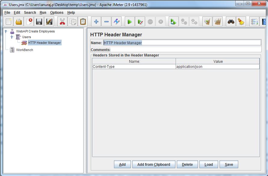 HTTP Header Manager