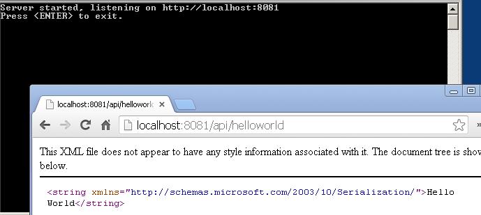 Web API Self Hosting