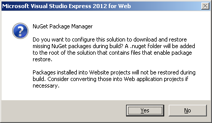 how to add nuget.config to solution visual studio