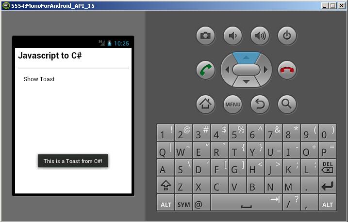 Javascript to C# - Run method