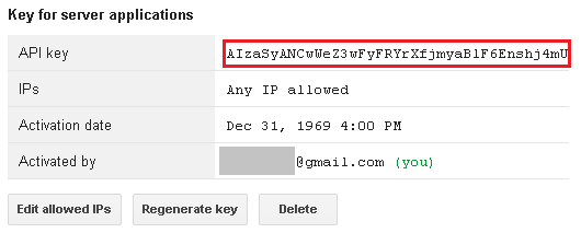 Key for server applications