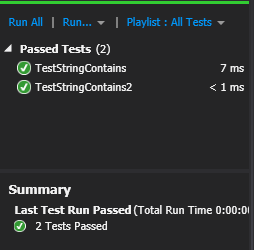 Modified unit tests