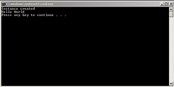 Singleton Application running in the console