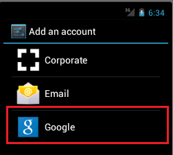 Add Google Account in the emulator