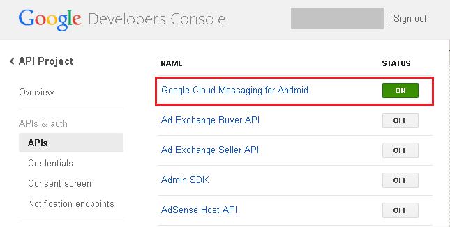 Xamarin Android Push Notifications using Google Cloud