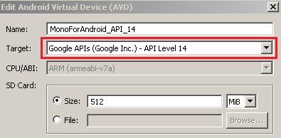Modify existing Android Virtual Device