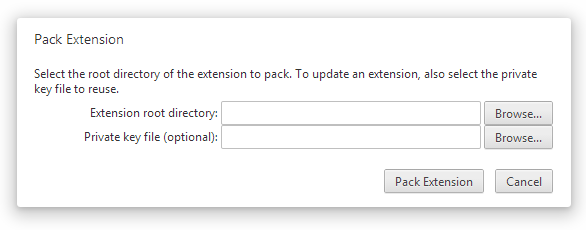 Pack Extension Dialog