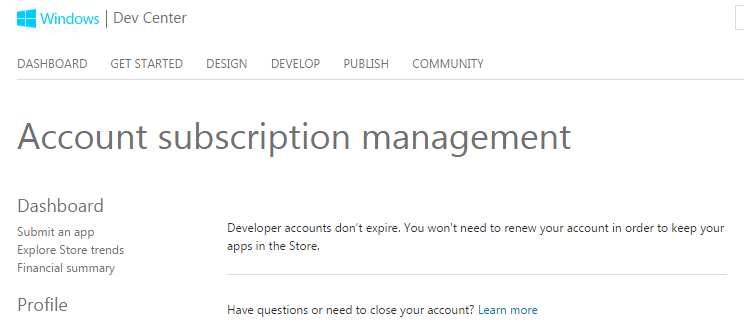 Account subscription management