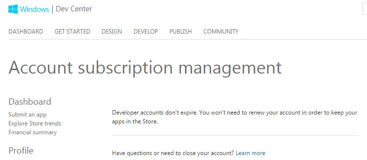 Account subscription management