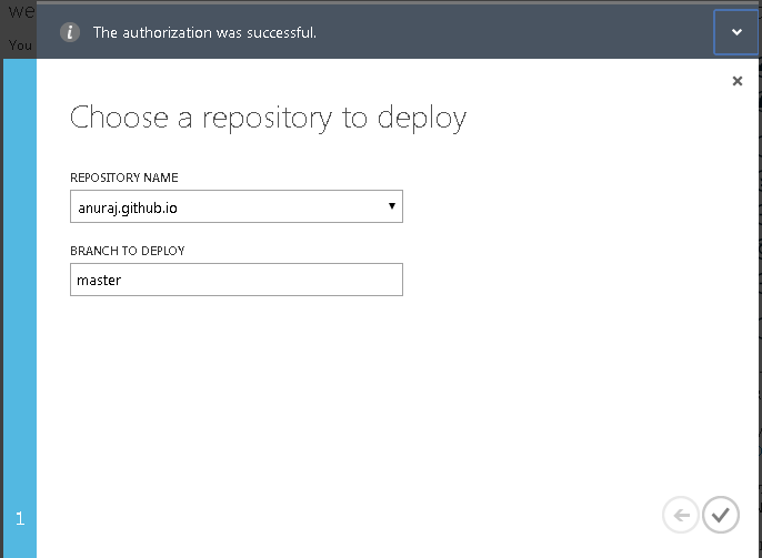 Select GitHub repository