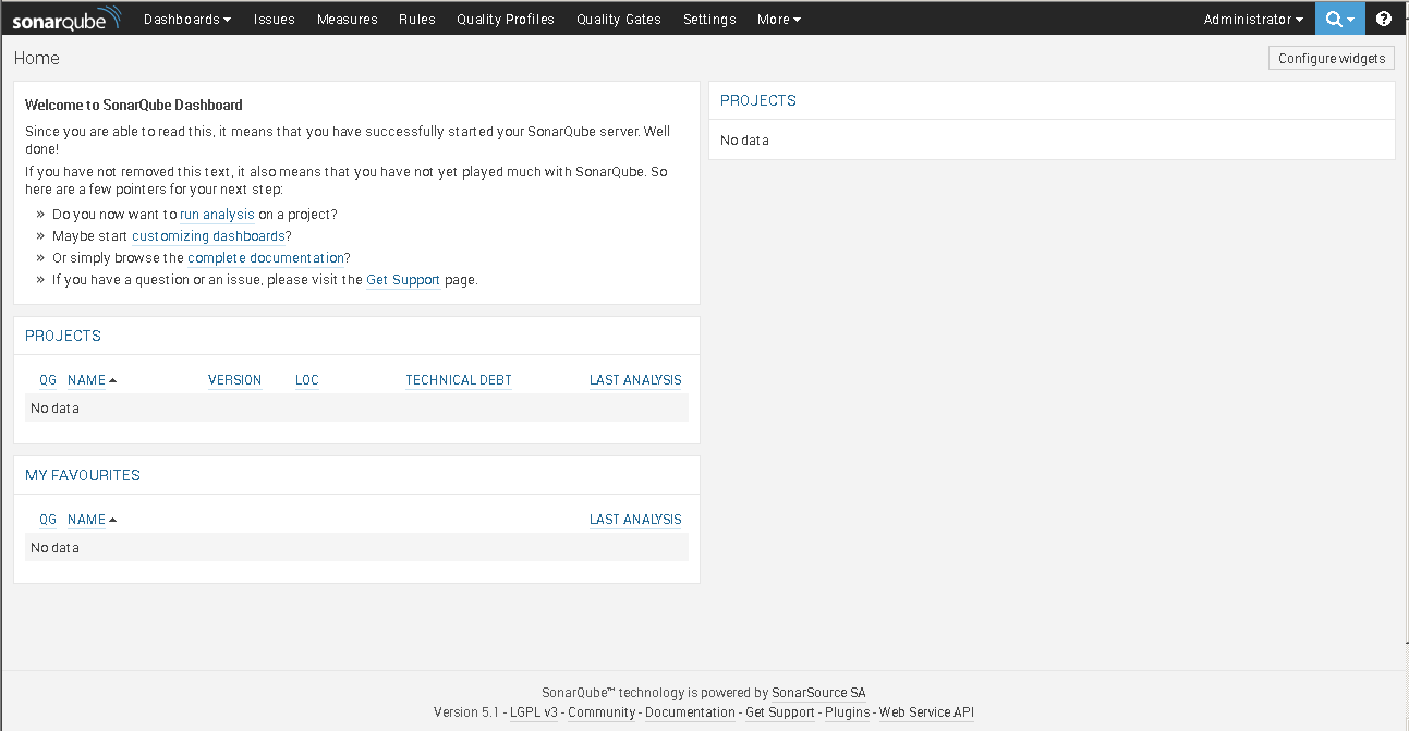 SonarCube Web Portal