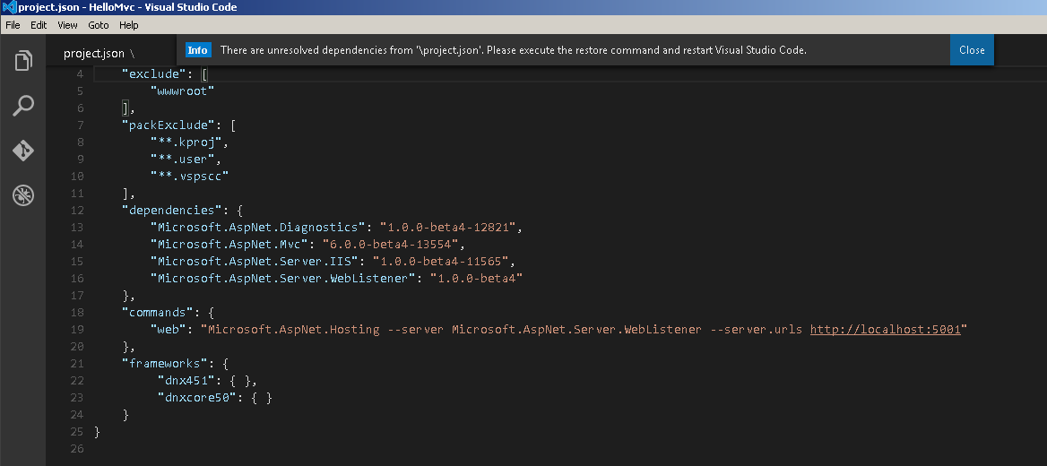 Prompting for nuget package restore