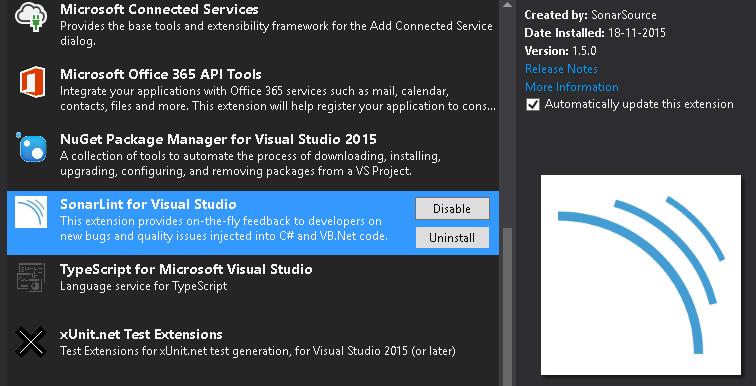 SonarLint - Visual Studio Extension