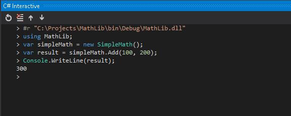 C# interactive window - External Assembly