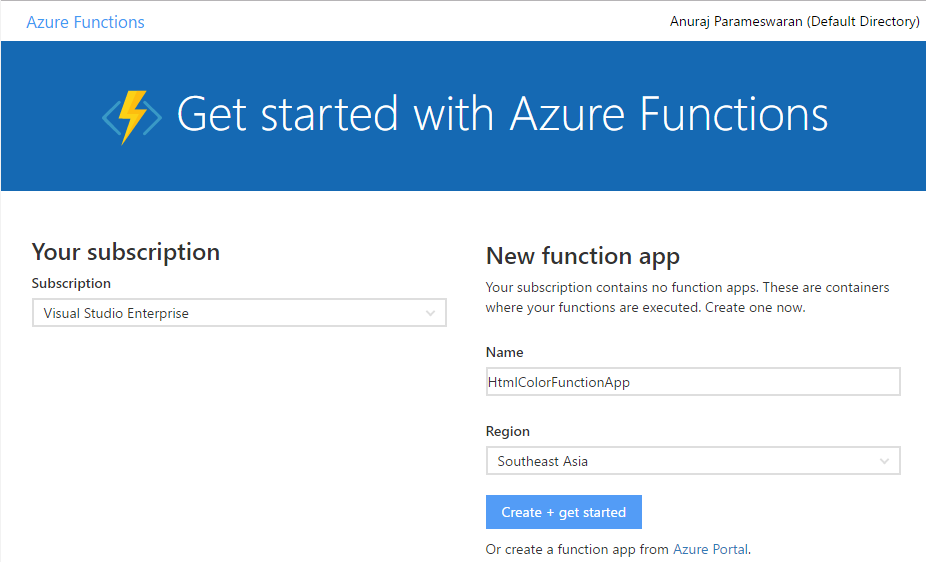 Create an Azure Function