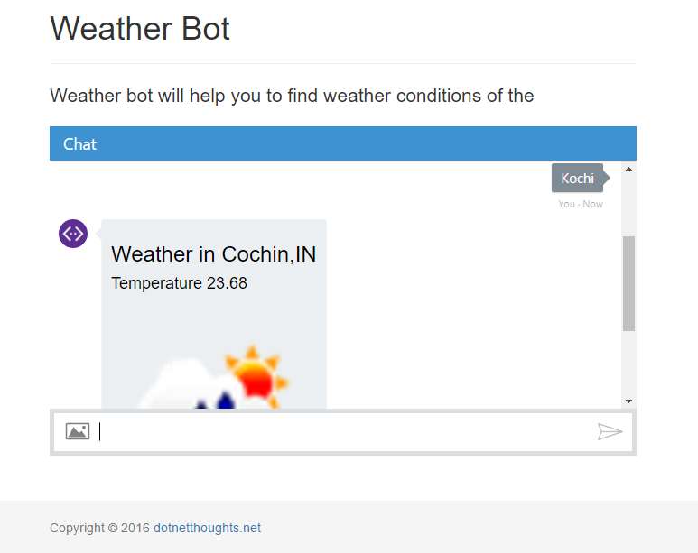 Weather bot running