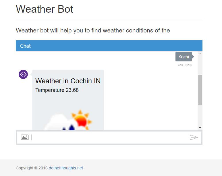 Weather bot running