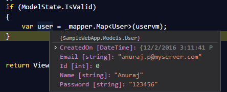 AutoMapper running in ASP.NET Core Web app