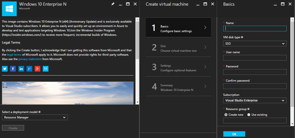 Create Azure Virtual Machine