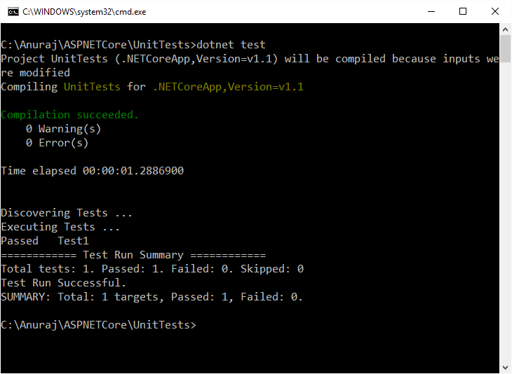 MS Test Execution