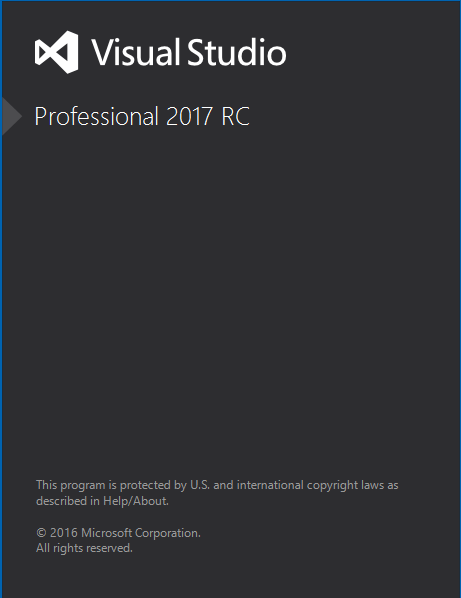 VS 2017 RC - Running