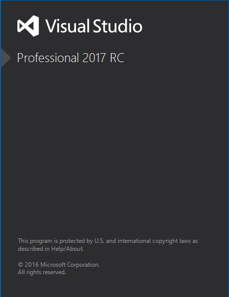 VS 2017 RC - Running