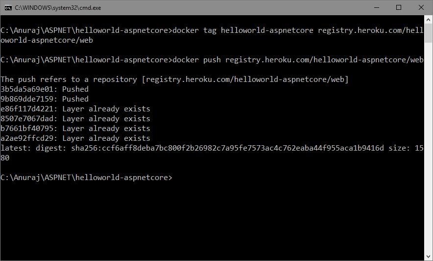 Publishing the Docker Image to Heroku