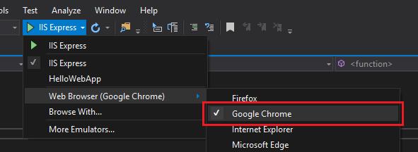 Enable Chrome Debugging in Visual Studio 2017