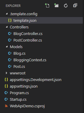 dotnet new template - folder structure