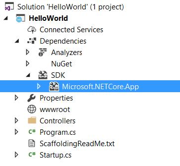 ASP.NET Core 2.0 Preview - Solution Explorer