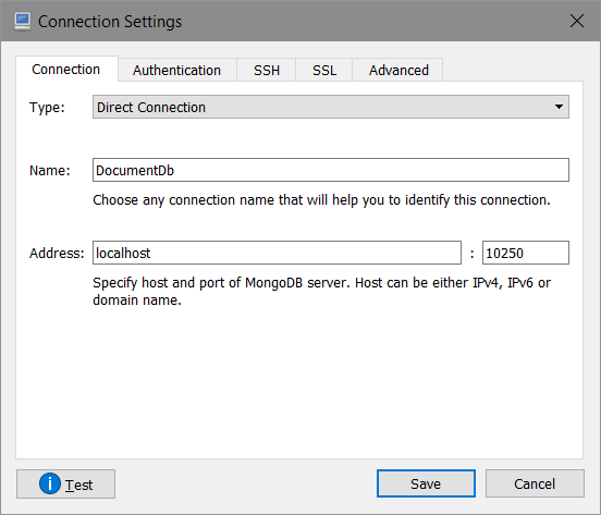 Connection Tab
