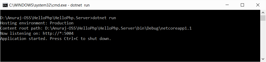 PHP running on ASP.NET Core
