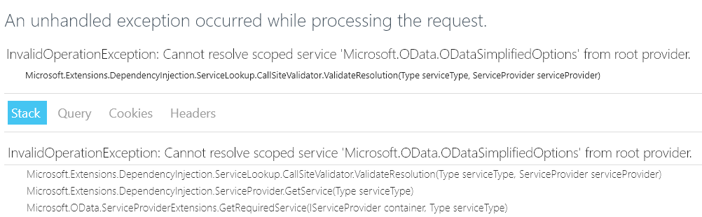 OData endpoint from Postman
