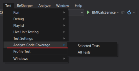 Code Coverage feature in Visual Studio 2017