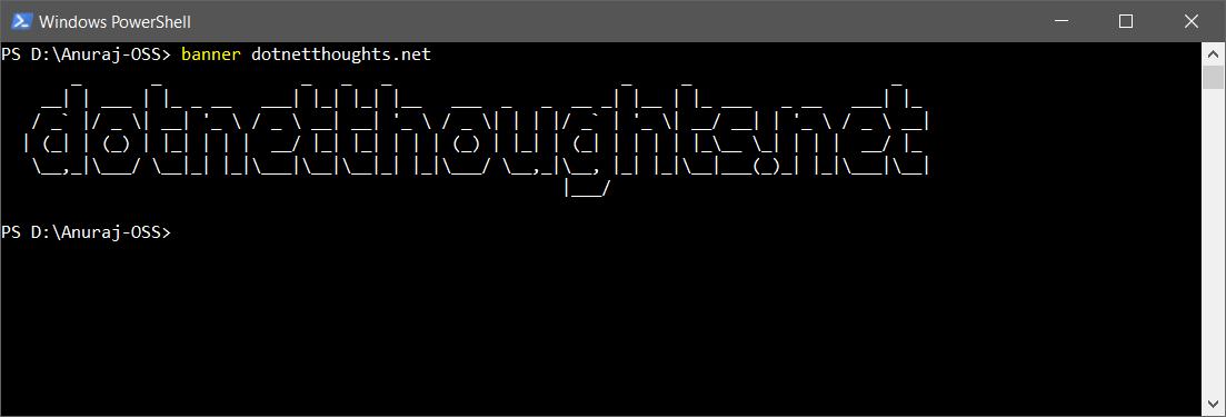 dotnet tool running