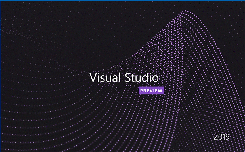 Visual Studio 2019 Preview Splash