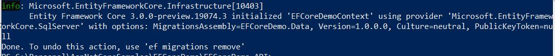 EF Core - Generating Migrations