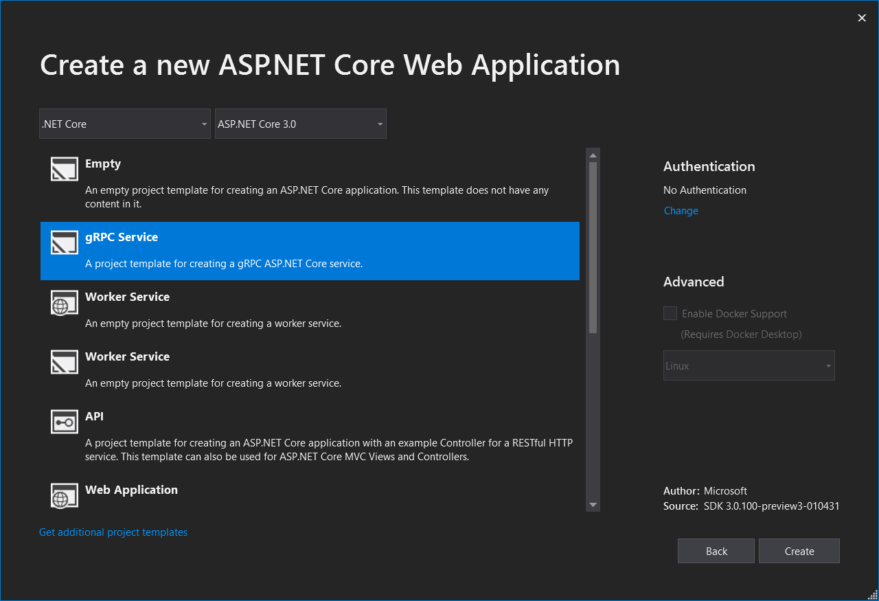 Working with gRPC in ASP NET Core