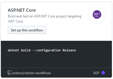 GitHub Actions - ASPNET Core Workflow