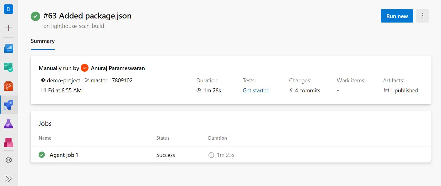Azure DevOps Build Result