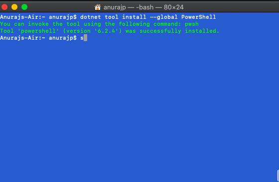 PowerShell Core Installation