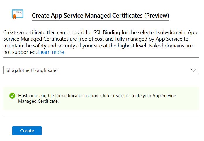 Create App Service Managed Certificates