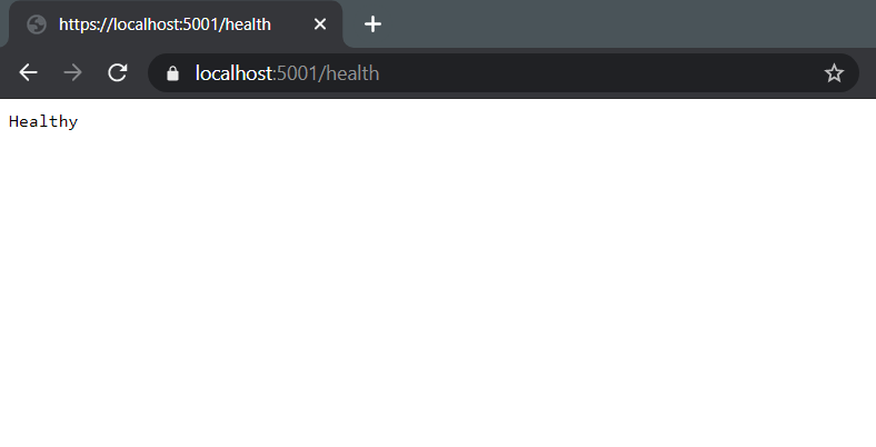 Health endpoint